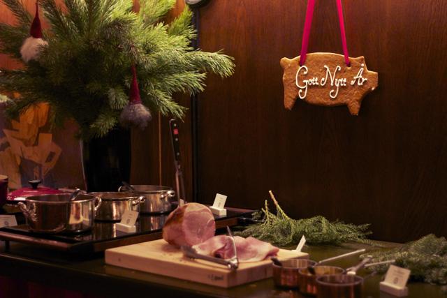 julbord stadhuskällaren julskinka skinska pepparkaka pepparkaksgris gott nytt år