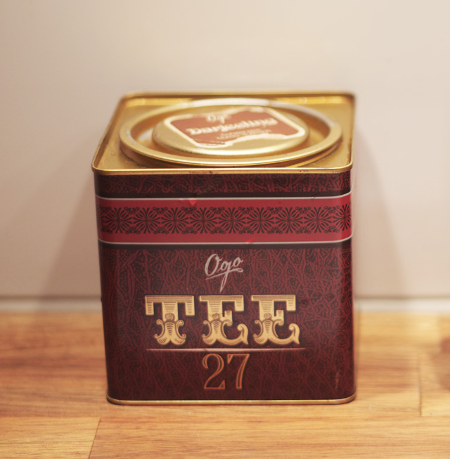Ogo Juwel Tee no 27 tea teburk te burk plåt plåtburk