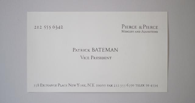 American psycho business card patrick bateman silian rail font american psycho business card patrick bateman silian rail font poster pierce scene colourmoves