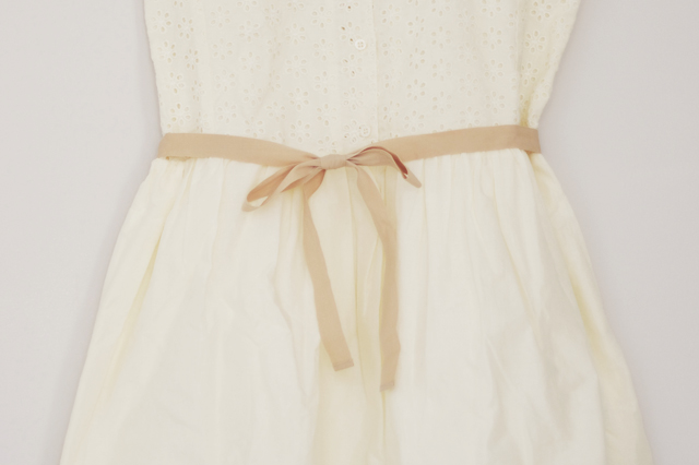 belt klänning vit shirt dress collar massimo dutti white bone ribbon summer