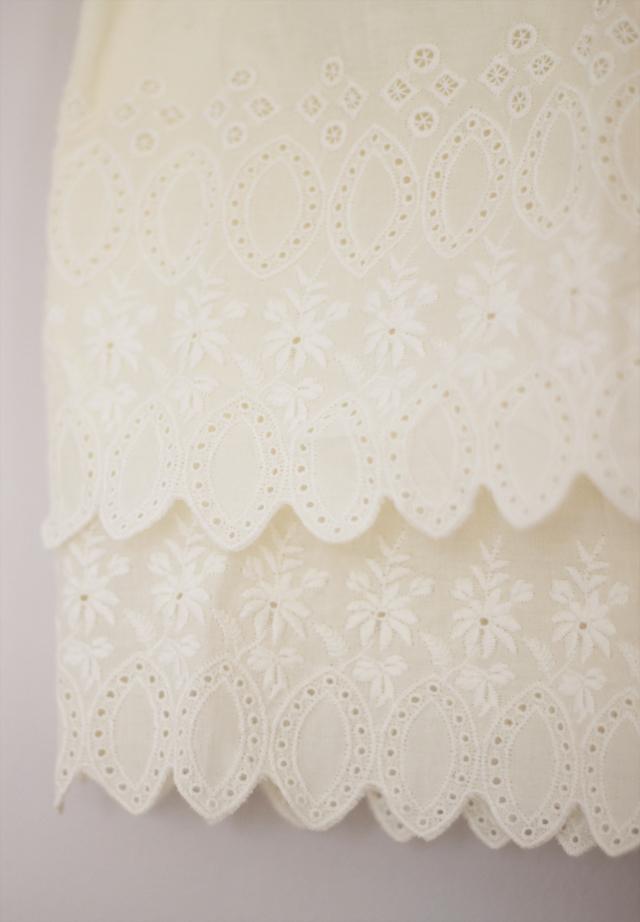 lace detail hem klänning vit shirt dress collar massimo dutti white bone ribbon summer