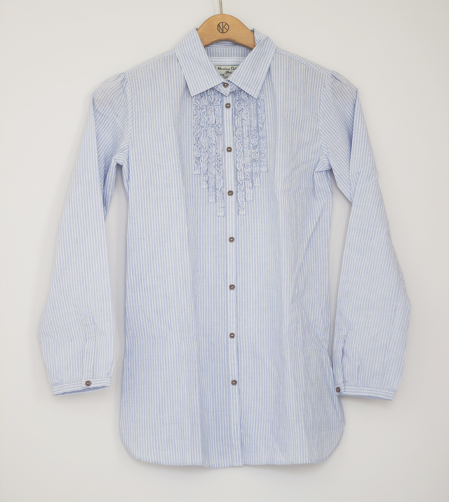 Shirt blouse linen cotton massimo dutti striped blue kids