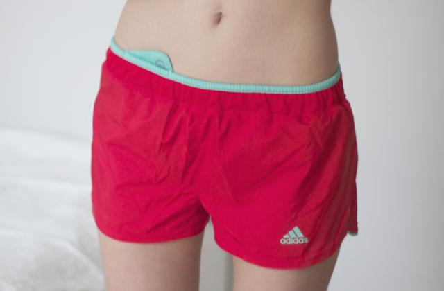 löparshorts adidas korall running shorts coral