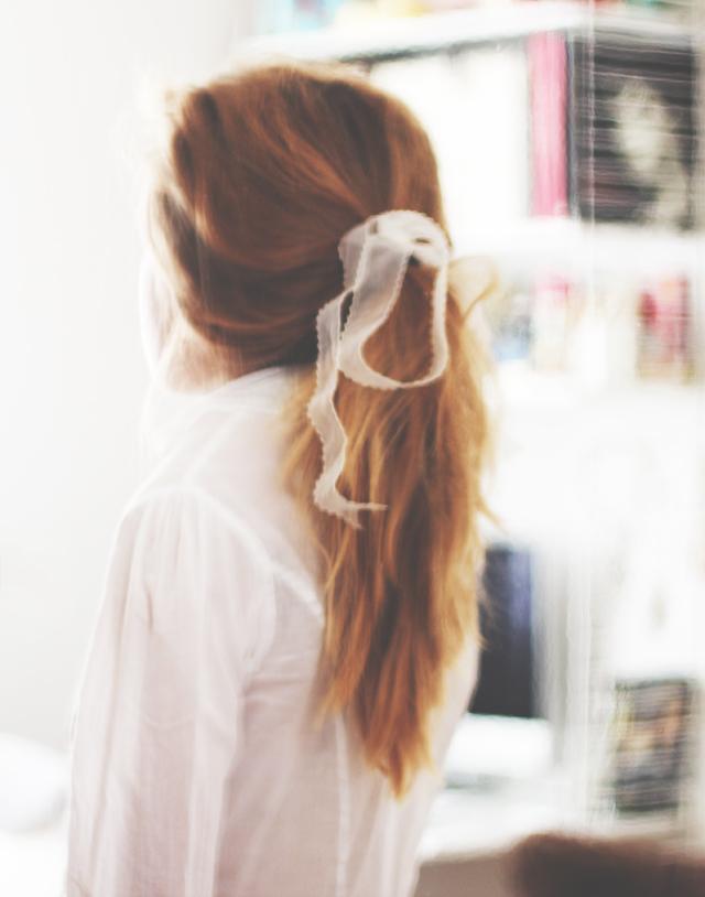 Messy hair bow ribbon