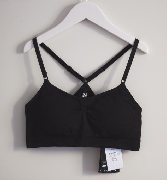 sports bra HM H&M sportbh black