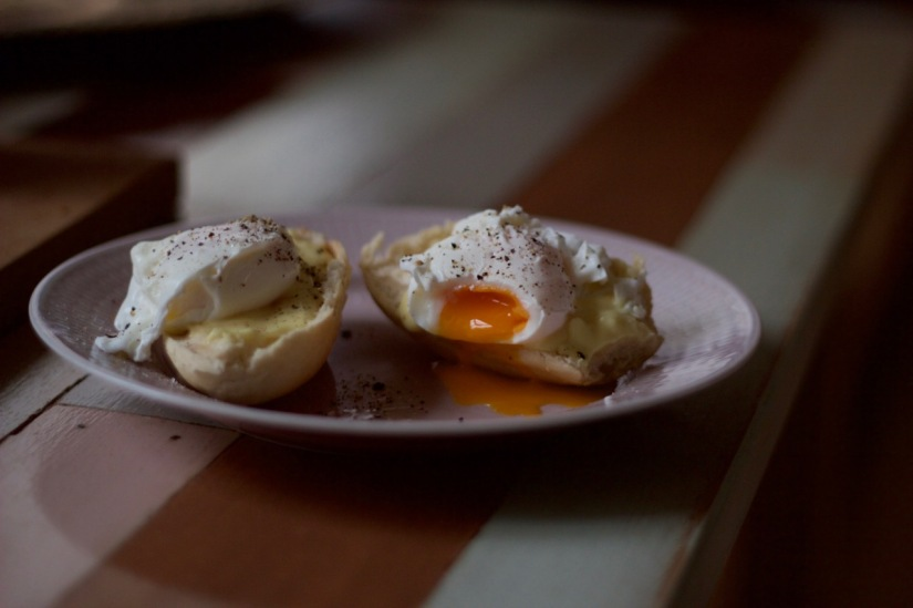 pocherade ägg